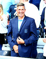 The lucky Manchester City fan who got the suit jacket of manager Manuel Pellegrini at full time during the Barclays Premier League match between Swansea City and Manchester City played at The Liberty Stadium, Swansea on 15th May 2016