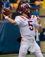 Virginia Tech quarterback Ryan Willis. The Pitt Panthers defeated the Virginia Tech Hokies 52-22 on November 10, 2018 at Heinz Field in Pittsburgh, Pennsylvania.