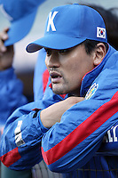Chan-Ho Park of Korea during the World Baseball Championships at Angel Stadium in Anaheim,California on March 15, 2006. Photo by Larry Goren/Four Seam Images