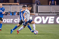 SAN JOSE, CA - MAY 01: Joseph Mora #28 of DC United dribbles the ball during a game between San Jose Earthquakes and D.C. United at PayPal Park on May 01, 2021 in San Jose, California.