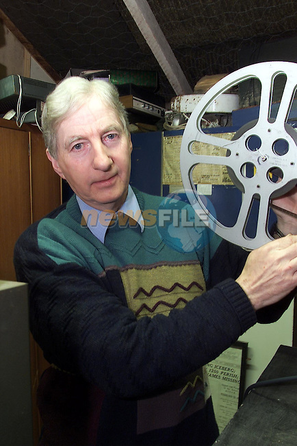 Benny Matthews at his converted cinema..pic:Arthur Carron/ Newsfile.245k0167