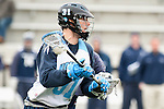 Baltimore- February 4: John Ranagan of Hopkins drives to the goal during the exhibition between Johns Hopkins and Penn State at Homewood Field on February 04, 2012 in Baltimore, MD.