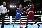 Glasgow 2014 Commonwealth Games<br /> <br /> Nathan Thorley, Wales (Blue) v Kennedy St Pierre, Mauritius (Red)<br /> Men's Light Heavy (81kg) Bronze bout.<br /> <br /> 01.08.14<br /> ©Steve Pope-SPORTINGWALES