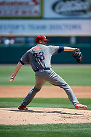 Lehigh Valley IronPigs starting pitcher Cole Irvin (33) delivers a pitch during a game against the Rochester Red Wings on July 1, 2018 at Frontier Field in Rochester, New York.  Rochester defeated Lehigh Valley 7-6.  (Mike Janes/Four Seam Images)