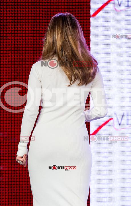 LAS VEGAS, NV - May 22:  Jennifer Lopez pictured as Jennifer Lopez and Marni Walden, Verison Wireless Executive Vice President & COO announce Viva Movil by Jennifer Lopez at Venetian Resort Hotel on  May 22, 2013 in Las Vegas, Nevada. © Kabik/Starlitepics