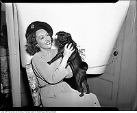 file photo circa 1942 - actress Gloria Swanson with dog