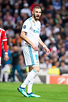 Real Madrid Karim Benzema during Semi Finals UEFA Champions League match between Real Madrid and Bayern Munich at Santiago Bernabeu Stadium in Madrid, Spain. May 01, 2018. (ALTERPHOTOS/Borja B.Hojas)