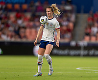 HOUSTON, TX - JUNE 10: Samantha Mewis #3 of the USWNT controls the ball during a game between Portugal and USWNT at BBVA Stadium on June 10, 2021 in Houston, Texas.