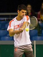 8-2-10, Rotterdam, Tennis, ABNAMROWTT, Novan Djokovic in training,