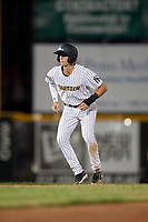 Trenton Thunder Ben Ruta (16) leads off second base during an Eastern League game against the New Hampshire Fisher Cats on August 20, 2019 at Arm & Hammer Park in Trenton, New Jersey.  New Hampshire defeated Trenton 7-2.  (Mike Janes/Four Seam Images)