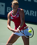 Karolina Pliskova (CZE) during the final against Angelique Kerber (GER) at the Bank of the West Classic in Stanford, CA on August 9, 2015.