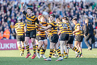 SCF2016 - RBAI vs Campbell College | Thursday 17th March 2016<br /> <br /> Neil Saulters at the final whistle during the Ulster Schools Cup Final between RBAI and Campbell College at Kingspan Stadium, Ravenhill Park, Belfast, Northern Ireland. Photo credit: John Dickson / DICKSONDIGITAL