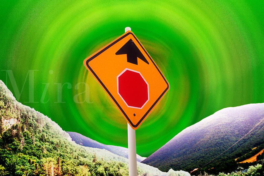 Environmental Stop Sign