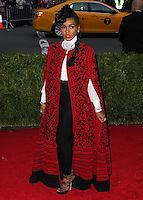 "NEW YORK CITY, NY, USA - MAY 05: Janelle Monae at the ""Charles James: Beyond Fashion"" Costume Institute Gala held at the Metropolitan Museum of Art on May 5, 2014 in New York City, New York, United States. (Photo by Xavier Collin/Celebrity Monitor)"