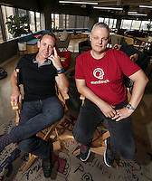 Sept. 20, 2016. I San Diego, CA. USA. | CEO of MindTouch Aaron Fulkerson, left and CTO Steve Bjorg. |Photos by Jamie Scott Lytle. Copyright.