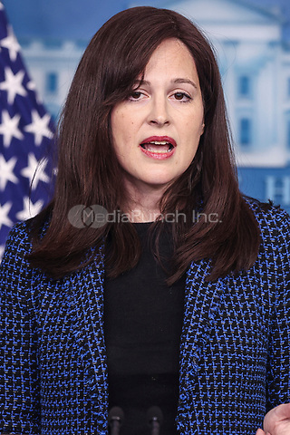 White House deputy national security adviser Anne Neuberger speaks during a press briefing on Wednesday, February 17, 2021, in Washington, DC. <br /> Credit: Oliver Contreras / Pool via CNP /MediaPunch