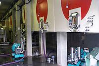 concrete vats pumping over domaine montirius vacqueyras rhone france