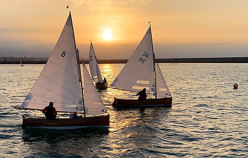Autumn timing to perfection – sunset developing stylishly as Barbara (8, Ian & Judith Malcolm), Hilda (49, Martin & Triona Byrne) and overall winner Little Tern