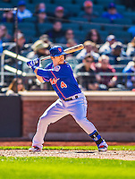 21 April 2013: New York Mets outfielder Collin Cowgill in action against the Washington Nationals at Citi Field in Flushing, NY. The Mets shut out the visiting Nationals 2-0, taking the rubber match of their 3-game weekend series. Mandatory Credit: Ed Wolfstein Photo *** RAW (NEF) Image File Available ***