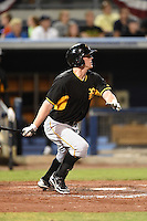 Bradenton Marauders first baseman Jordan Steranka (29) during a game against the Charlotte Stone Crabs on April 4, 2014 at Charlotte Sports Park in Port Charlotte, Florida.  Bradenton defeated Charlotte 9-1.  (Mike Janes/Four Seam Images)