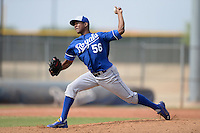 Kansas City Royals pitcher Carlos Herrera (56) during an Instructional League game against the Cleveland Indians on October 9, 2013 at Surprise Stadium Training Complex in Surprise, Arizona.  (Mike Janes/Four Seam Images)