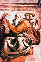 Renaissance Art: Michelangelo, The Prophet Zachariah. Sistine Chapel, Vatican. Reference only.