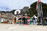 11th April 2021; Roquebrune-Cap-Martin, France;  Rafael Nadal Esp during practise sessions for the  Rolex Monte Carlo Masters
