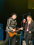 Cheap Trick Rick Nielsen and Robin Zander at Alice Cooper's Christmas Pudding show for his Solid Rock Foundation Charity at Dodge Theatre in Phoenix, Arizona, December 18th 2004. Photo by Chris Walter/Photofeatures.