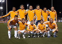 Houston Dynamo starting XI.  Houston Dynamo defeated Puntarenas FC 2-0 at the Aggie Soccer Complex in College Station, TX on March 1, 2007.  The Houston Dynamo advance to the semifinals of the CONCACAF Champions Cup on a 2-1 aggregate.