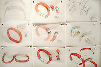 USA. California state. San Francisco. Fuseproject offices in Potero Hill district. Ives Béhar is the designer of Jawbone UP wristbands. Yves Béhar (born 1967) is a Swiss designer, renowned entrepreneur, and sustainability advocate. He is the founder and principal designer of Fuseproject, an award-winning industrial design and brand development firm. Béhar's design work emphasizes the integration of commercial products with sustainability and social good. Béhar is also Chief Creative Officer of the wearable technology company Jawbone. Jawbone wristbands are considered to be wearable technology, wearables, fashionable technology, wearable devices, tech togs, or fashion electronics which are clothing and accessories incorporating computer and advanced electronic technologies. The designs often incorporate practical functions and features, but may also have a purely critical or aesthetic agenda. 15.12.2014 © 2014 Didier Ruef