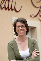 Estelle Roumage, winemaker, of the owning family. Chateau Lestrille, Bordeaux, France