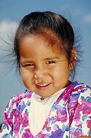 CHEROKEE PRESCHOOL GIRL. CHEROKEE PRESCHOOLER. TALEQUAH OKLAHOMA USA.