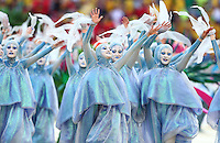 Artists perform at the opening ceremony of the 2014 FIFA World Cup