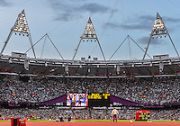 August 05, 2012: View of the Olympic Stadium on day nine of 2012 Olympic Games in London, United Kingdom.
