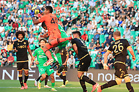 25th September 2021; Saint-Etienne Stade Geoffroy Guichard, France; AS Saint-Etienne versus OGC Nice; Goalkeeper Walter BENITEZ collects the ball from a cross
