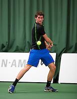 18-01-14,Netherlands, Rotterdam,  TC Victoria, Wildcard Tournament, , ,  Tom Smit (NED)  <br /> Photo: Henk Koster