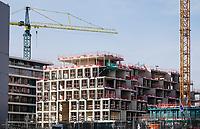 Nederland  Amsterdam 2021.  Amsterdam Noord. Woningbouw vlak bij het IJ. Hoogbouw.  Foto Berlinda van Dam / HH / ANP.