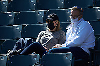 Former Major League pitcher Al Leiter (right) and his wife Lori watch their son Jack Leiter (not pictured) pitch for the Vanderbilt Commodores during the game against the South Carolina Gamecocks at Hawkins Field on March 20, 2021 in Nashville, Tennessee. (Brian Westerholt/Four Seam Images)