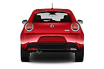 Straight rear view of 2016 Alfaromeo Mito Super 3 Door hatchback Rear View  stock images