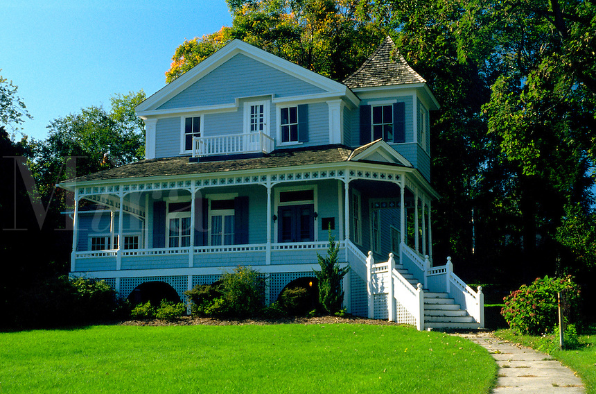 The exterior of Monte Cristo Cottage, boyhood home of Eugene O'Neill. Connecticut.