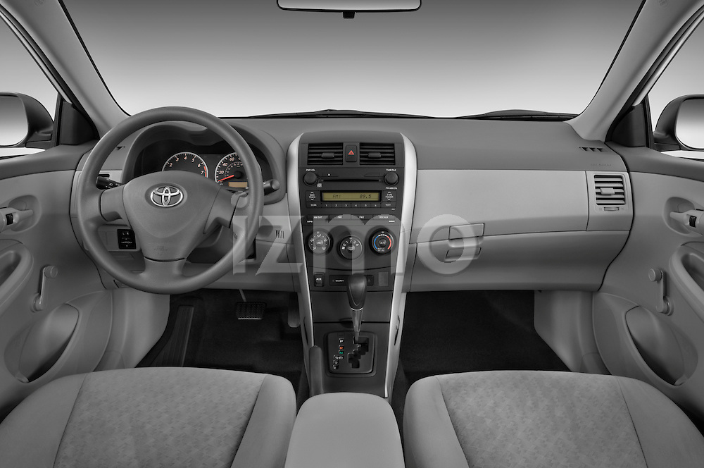 Straight dashboard view of a 2009 Toyota Corolla 4 Door.