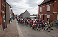 peloton up the Oude Kruisberg<br /> <br /> 64th E3 Classic 2021 (1.UWT)<br /> 1 day race from Harelbeke to Harelbeke (BEL/204km)<br /> <br /> ©kramon