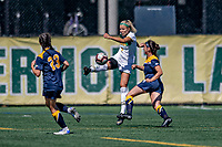 1 September 2019: University of Vermont Catamount Defender Christina Barry, a Senior from Apple Valley, MN, in action against the Merrimack College Warriors in Game 3 of the TD Bank Women's Soccer Classic at Virtue Field in Burlington, Vermont. The Lady Warriors rallied in the second half to defeat the Catamounts 2-1. Mandatory Credit: Ed Wolfstein Photo *** RAW (NEF) Image File Available ***