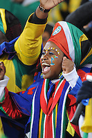 South African fans were united in their support of Bafana Bafana during pre-game festivities.Uruguay defeated South Africa, 2-0, in both teams' second match of play in Group A of the 2010 FIFA World Cup. The match was played at Loftus Versfeld in Pretoria, South Africa June 16th.