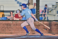 Burlington Royals right fielder Kort Peterson (8) swings at a pitch during Game Two of the Appalachian League Championship series against the Johnson City Cardinals at TVA Credit Union Ballpark on September 7, 2016 in Johnson City, Tennessee. The Cardinals defeated the Royals 11-6 to win the series 2-0.. (Tony Farlow/Four Seam Images)