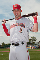 Harrisburg Senators infielder Jason Martinson (5) during game against the Trenton Thunder at ARM & HAMMER Park on July 31, 2013 in Trenton, NJ.  Harrisburg defeated Trenton 5-3.  (Tomasso DeRosa/Four Seam Images)