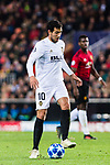 Daniel Parejo Munoz of Valencia CF in action during the UEFA Champions League 2018-19 match between Valencia CF and Manchester United at Estadio de Mestalla on December 12 2018 in Valencia, Spain. Photo by Maria Jose Segovia Carmona / Power Sport Images