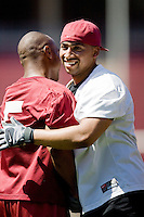 12 April 2007: Former players return to Stanford to play in the Alumni game at Stanford Stadium in Stanford, CA. Pictured is Evan Combs.
