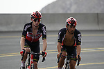 Harrison Sweeny and Caleb Ewan (AUS) Lotto-Soudal climb the final 4km of Jais Mountain during Stage 5 of the 2021 UAE Tour running 170km from Fujairah to Jebel Jais, Ras Al Khaimah, UAE. 25th February 2021.  <br /> Picture: Eoin Clarke   Cyclefile<br /> <br /> All photos usage must carry mandatory copyright credit (© Cyclefile   Eoin Clarke)