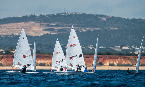 Howth Yacht Club's Aoife Hopkins (IRL 211171) competing in the Vilamoura ILCA Championships